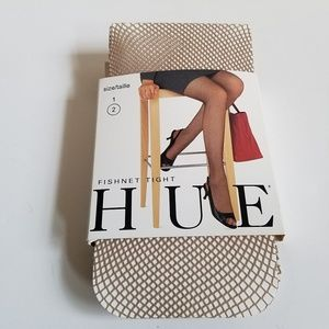 HUE Nude Fishnet Tights Retro Stockings Hosiery